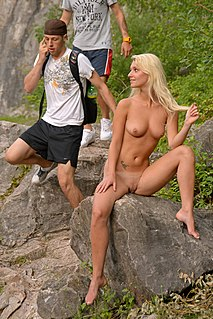 Clothed male, naked female