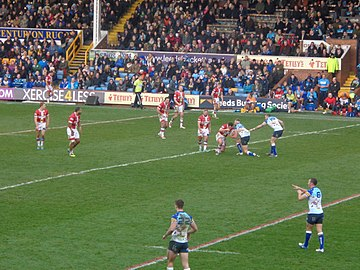 Every Boxing Day, Leeds Rhinos host Wakefield Trinity for a local derby. Tetley's Festive Challenge (26th December 2014) 002.JPG