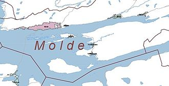 History of Molde - Molde on the north shore of the Moldefjord, an arm of Romsdal Fjord, on the Romsdal peninsula