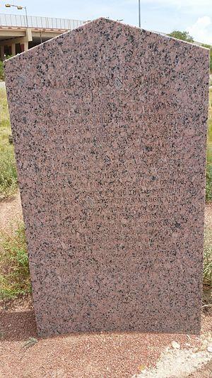History of El Paso, Texas - Texas Historical Marker for Maj. Simeon Hart (1816-1874)