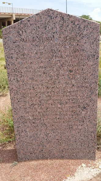 History of El Paso, Texas - Texas Historical Marker for Maj. Simeon Hart (1816–1874)