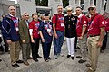 The 35th Commandant of the Marine Corps, Gen. James F. Amos, third from right, poses for a photo with a World War II veteran and other attendees during the Honor Flight event at the World War II Memorial 130928-M-LU710-108.jpg