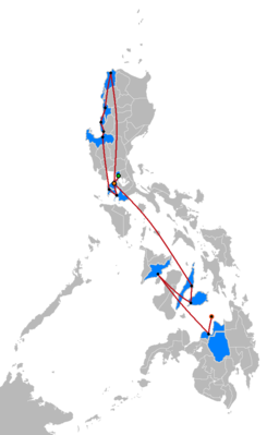 The Amazing Race Philippines 2 Map