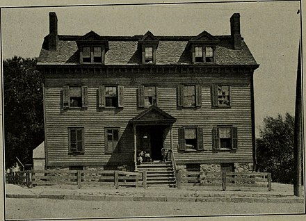 The Norris Tavern, in Morristown, New Jersey, where the trial took place. The American annual of photography (1911) (14596787487).jpg