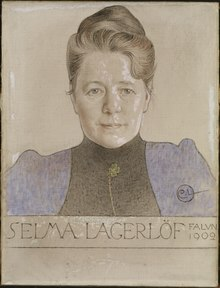 The Author Selma Lagerlöf (Carl Larsson) - Nationalmuseum - 24245.tif