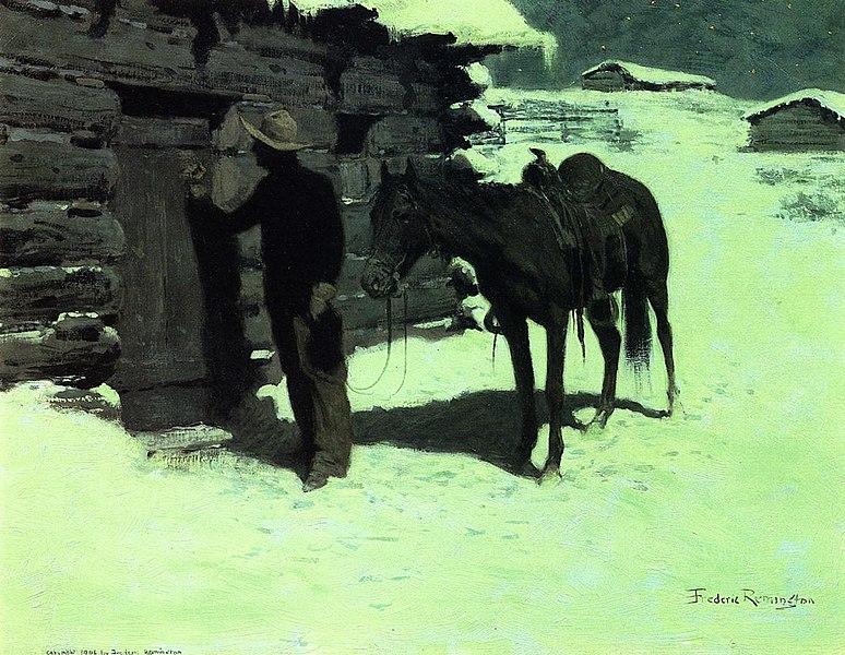 File:The Belated Traveler Frederic Remington.jpeg