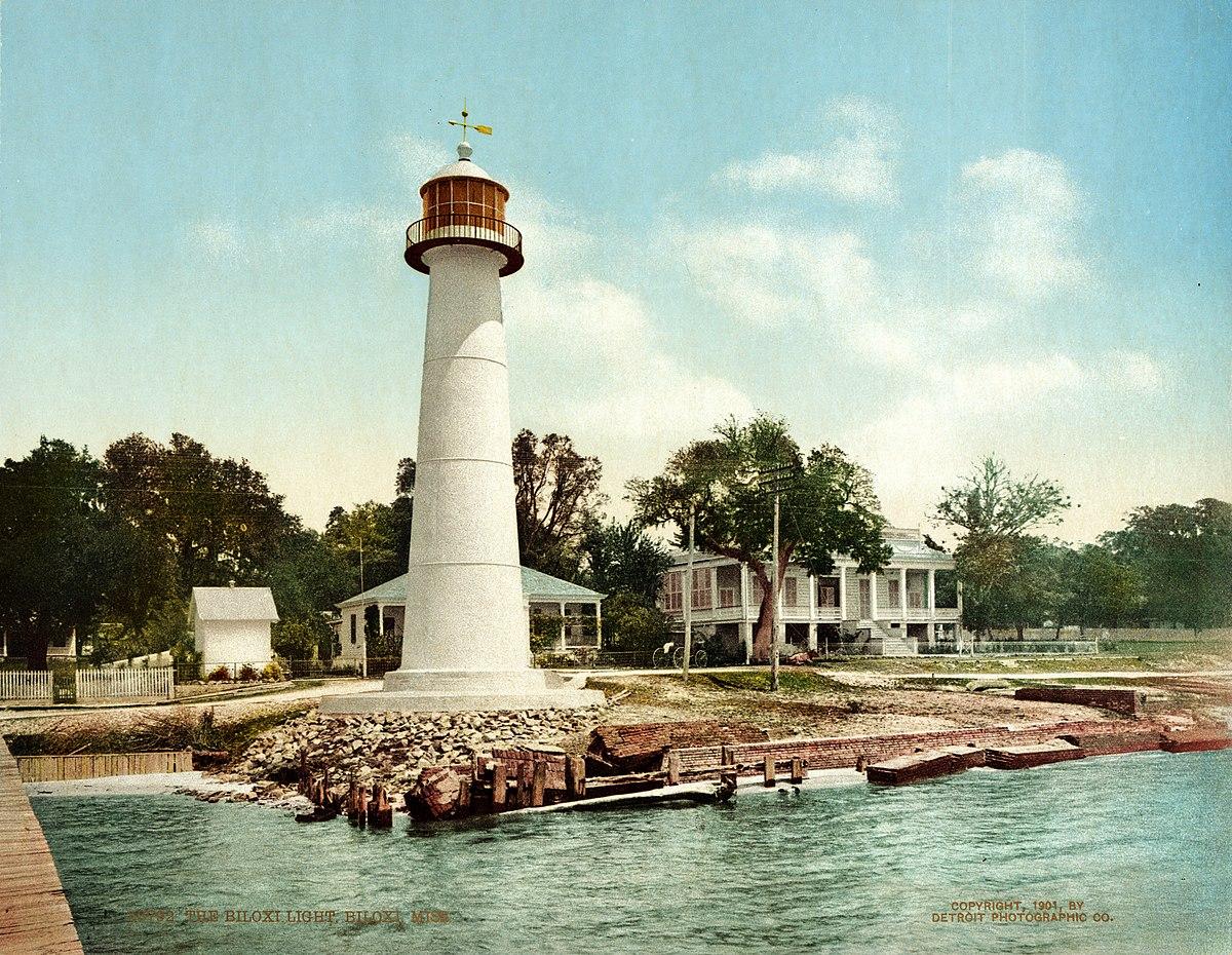 File The Biloxi Light Biloxi Mississippi 1901 Jpg Wikimedia