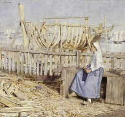The Boat Builder's Yard, Cancale, Brittany