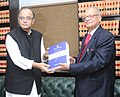 The Chairman of the Seventh Pay Commission, Justice A.K. Mathur submitted its report to the Union Minister for Finance, Corporate Affairs and Information & Broadcasting, Shri Arun Jaitley, in New Delhi on November 19, 2015.jpg