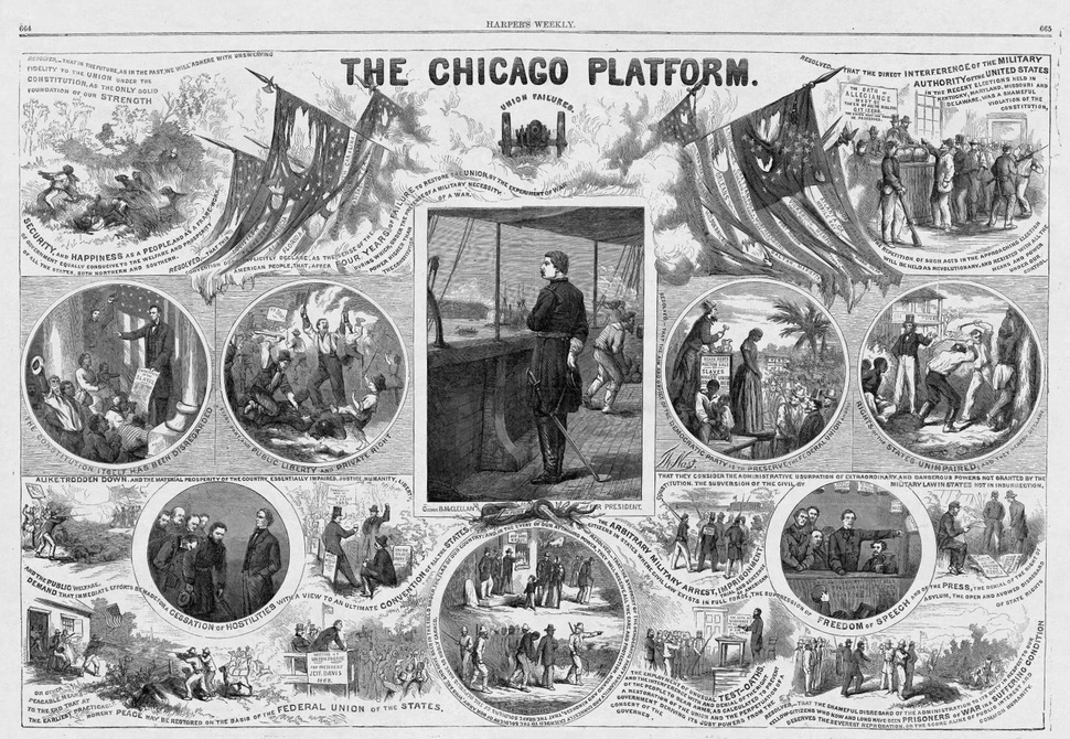 The Chicago Platform (1864), by Thomas Nast