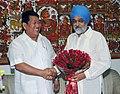 The Chief Minister of Arunachal Pradesh, Shri Dorjee Khandu meeting the Deputy Chairman, Planning Commission, Shri Montek Singh Ahluwalia to finalize Annual Plan 2009-10 of the State, in New Delhi on July 14, 2009.jpg