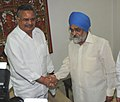 The Chief Minister of Chhattisgarh, Shri Raman Singh meeting the Deputy Chairman, Planning Commission, Shri Montek Singh Ahluwalia to finalize Annual Plan 2010-11 of the State, in New Delhi on May 19, 2010.jpg