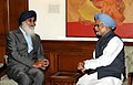The Chief Minister of Punjab, Shri Prakash Singh Badal meeting the Prime Minister, Dr. Manmohan Singh, in New Delhi on March 20, 2012 (1).jpg