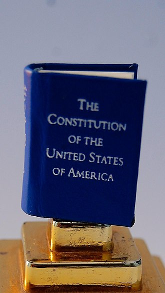 Miniature book - The Constitution of the United States, in miniature version.