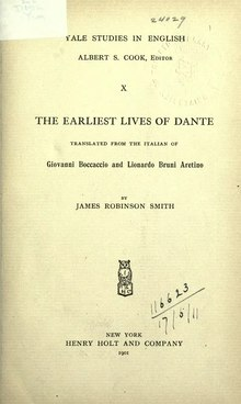 The Earliest Lives of Dante (Smith 1901).djvu