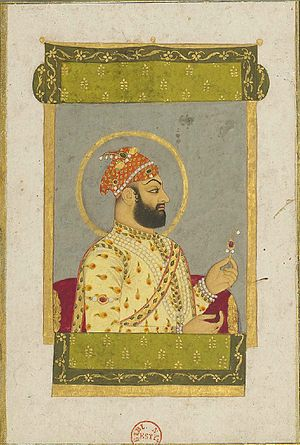 Farrukhsiyar - Image: The Emperor Farrukhsiyar on his balcony 1715 1719, Bibliothèque nationale de France, Paris