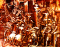 The Fall of Troy and the Escape of Aeneas ca 1540s by Giorgio Ghisi - Italy Mantua1520-1582-ma-39430-colorized by K Vail.png