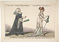 The Fashions of the Day – or Time Past and Time Present- The Year (1740) a Lady's Full Dress of Bombazeen – The Year (1808) Lady's Undress of Bum-be-seen MET DP808233.jpg