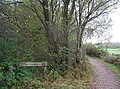 The Forest Way Cycleway leaves the old railway line - geograph.org.uk - 1587795.jpg