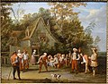 The Game of Bowls, by Pieter Angillis, 1727, oil on canvas - Portland Art Museum - Portland, Oregon - DSC09085.jpg