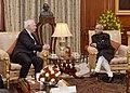 The Governor General of Canada, Mr. David Johnston meeting the President, Shri Pranab Mukherjee, in New Delhi on February 24, 2014.jpg