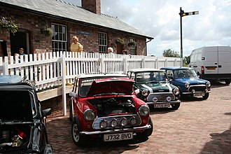 The Italian Job - Minis from The Italian Job on display at Bardney Heritage Centre
