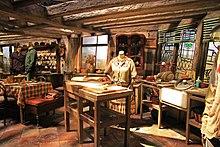 Représentation de la cuisine du Terrier aux studios Harry Potter.