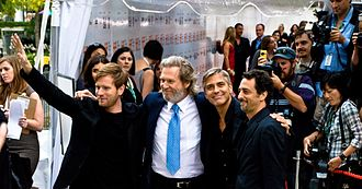 The Men Who Stare at Goats (film) - From left to right: cast members Ewan McGregor, Jeff Bridges, George Clooney, and director Grant Heslov attending the film's premiere at the 2009 Toronto International Film Festival