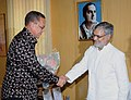 The Minister of Rural Development, South Africa, Mr. Gugile Nkwinty meeting the Union Minister for Rural Development and Panchayati Raj, Dr. C.P. Joshi, in New Delhi on April 15, 2010.jpg