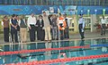 The Minister of State (Independent Charge) for Youth Affairs & Sports, Shri Jitendra Singh visits Dr. Shyama Prasad Mukherjee Swimming Pool Complex, in New Delhi on November 17, 2012.jpg