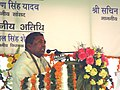 The Minister of State for Shipping, Road Transport and Highways, Shri K.H. Muniyappa addressing at the Foundation Stone Laying Ceremony of Six-Laning of Jaipur-Kotputli-Gurgaon Section of NH-8, at Jaipur .jpg