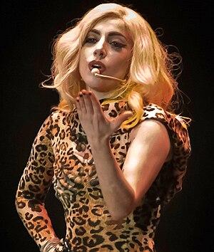 "English: Lady Gaga performing ""Poker Face..."