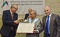 The President, Shri Pranab Mukherjee being conferred the Honorary Doctorate by the Hebrew University of Jerusalem, at Jerusalem in Israel on October 15, 2015.jpg