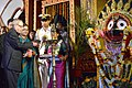 The President, Shri Pranab Mukherjee lighting the lamp to inaugurate the Golden Jubliee Celebrations of Utkal Sangeet Mahavidyalaya, at Bhubaneswar, in Odisha on November 29, 2014.jpg