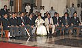 The President, Smt. Pratibha Devisingh Patil with the Twenty-Twenty Cricket Team, in New Delhi on October 30, 2007.jpg