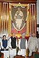 The Prime Minister, Dr. Manmohan Singh after paying floral tributes to late Sardar Vallabhbhai Patel on the occasion of his birth anniversary in New Delhi on October 31, 2006.jpg