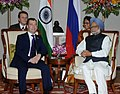 The Prime Minister, Dr. Manmohan Singh at a bilateral meeting with the President of the Russian Federation, Mr. Dmitry A. Medvedev, on the sidelines of the BRICS Summit, in New Delhi on March 29, 2012 (1).jpg