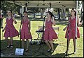 The Rockettes singing at Bisbane Kids Truck Convoy to Redcliffe-01 (38158680611).jpg