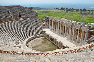 Hierapolis ancient city in Phrygia (now Pamukkale, Turkey)