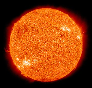 Star - False-color imagery of the Sun, a G-type main-sequence star, the closest to Earth