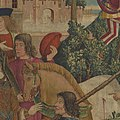 The Unicorn is Killed and Brought to the Castle (from the Unicorn Tapestries) MET DP101240.jpg