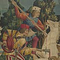 The Unicorn is Killed and Brought to the Castle (from the Unicorn Tapestries) MET DP101244.jpg
