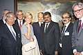 The Union Minister for Shipping, Shri G.K. Vasan with the Her Royal Highness, Princess Astrid of Belgium and other dignitaries at the inauguration of the Art Exhibition Masterpieces of Antwerp, in Mumbai on November 27, 2013.jpg