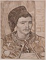 The Zouave by Vincent van Gogh, 1888, pen and ink.JPG