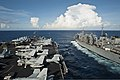 The aircraft carrier USS Nimitz (CVN 68) and the fast combat support ship USNS Rainier (T-AOE 7) transit alongside each other during a replenishment at sea in the South China Sea May 21, 2013 130521-N-LP801-022.jpg