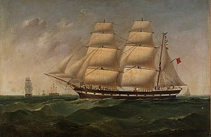 Sarawak - A barque named Rajah of Sarawak, in honour of James Brooke, operating between Swansea in the UK, Australia, and the East Indies from the late 1840s.