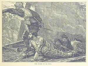 Juan de la Cosa - An 1887 illustration of de la Cosa's death