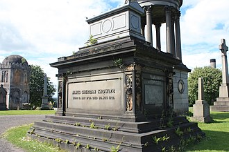 James Sheridan Knowles - The grave of James Sheridan Knowles, Glasgow Necropolis
