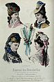 The heads and shoulders of four women and a lace collar; the Wellcome V0019896.jpg