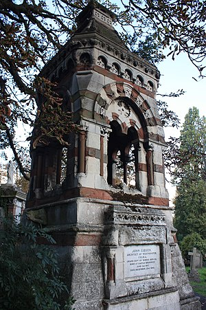 John Gibson (architect) - The huge monument to John Gibson in Kensal Green Cemetery